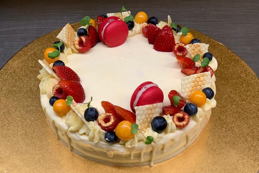 Vanilla dort - 10 porcí